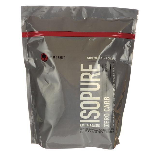 Nature's Best Isopure Zero Carb Protein Powder Strawberries & Cream