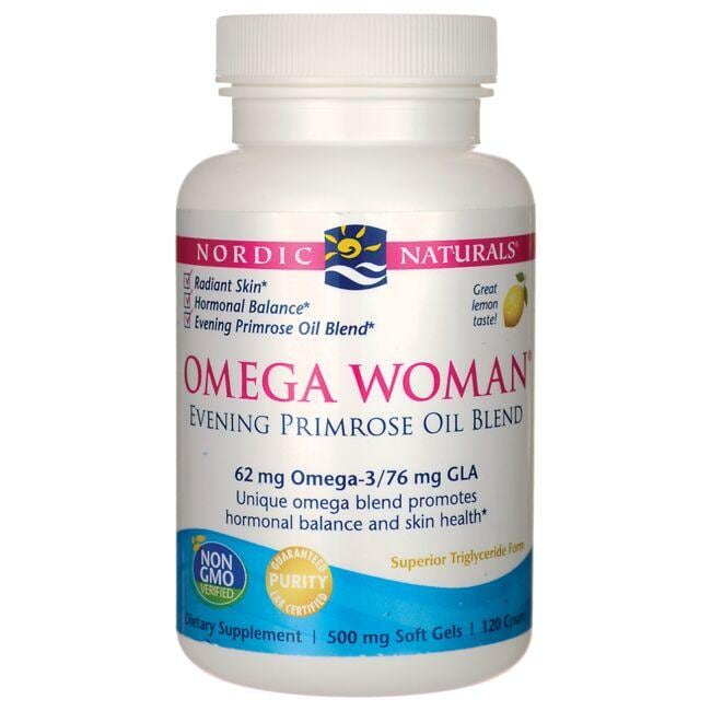 Nordic Naturals Omega Woman Evening Primrose Oil Blend - Lemon
