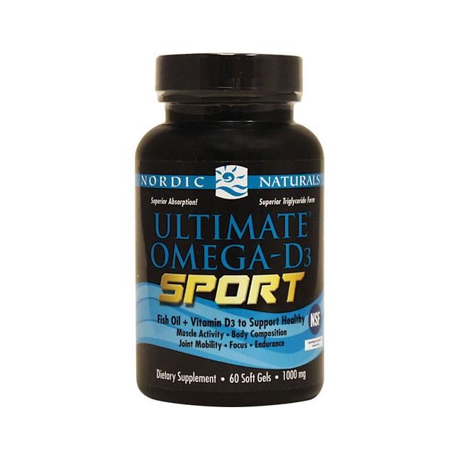 Nordic naturals ultimate omega d3 sport 1 000 mg 60 sgels for Fish oil nordic naturals