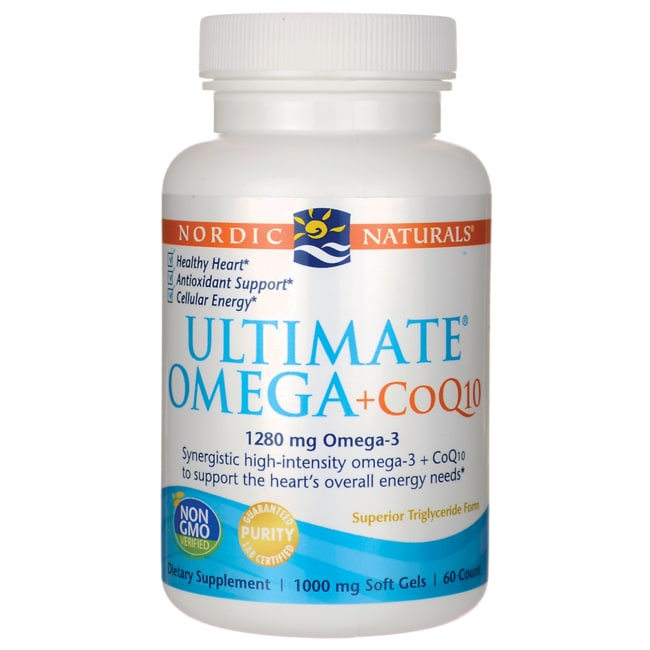 Nordic naturals ultimate omega coq10 60 sgels swanson for Coq10 and fish oil