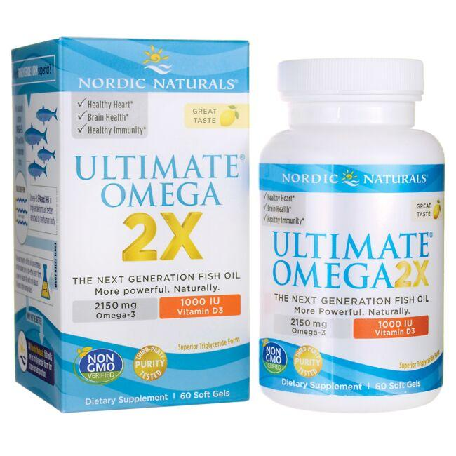 Nordic Naturals Ultimate Omega 2X with Vitamin D3 - Lemon