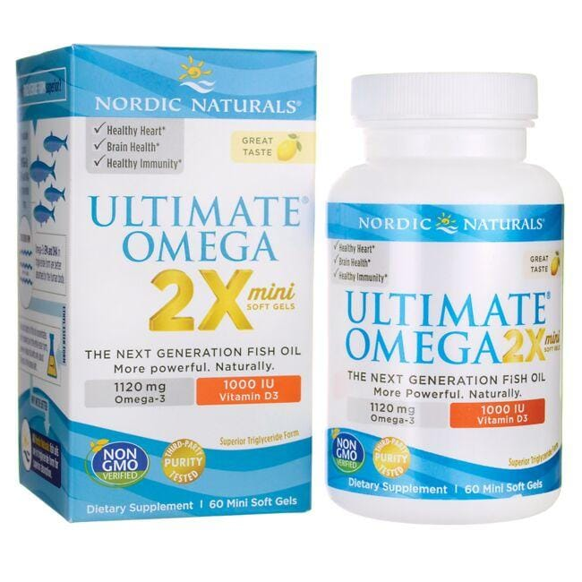 Nordic NaturalsUltimate Omega 2X Mini with Vitamin D3 - Lemon