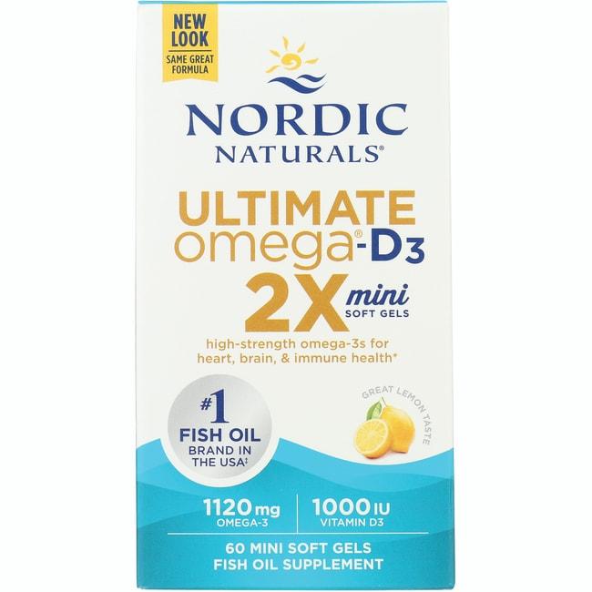 Nordic NaturalsUltimate Omega 2X Mini with Vitamin D3 - Lemon