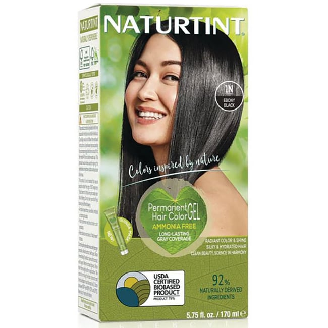 Naturtint Permanent Hair Color - 1N Ebony Black 1 Box - Swanson ...