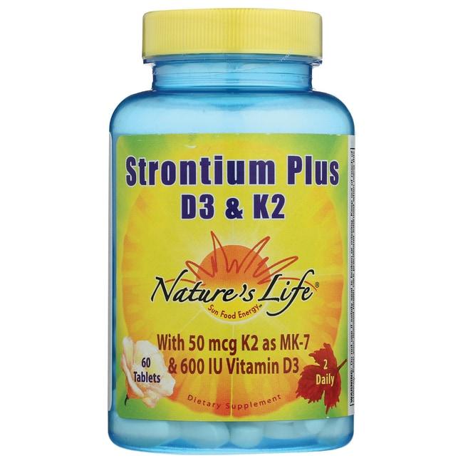 Nature's LifeStrontium Plus D3 & K2