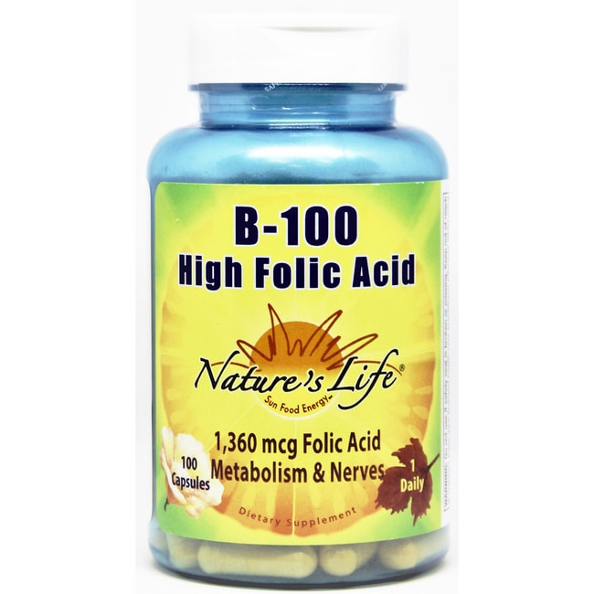 Nature's LifeB-100 High Folic Acid