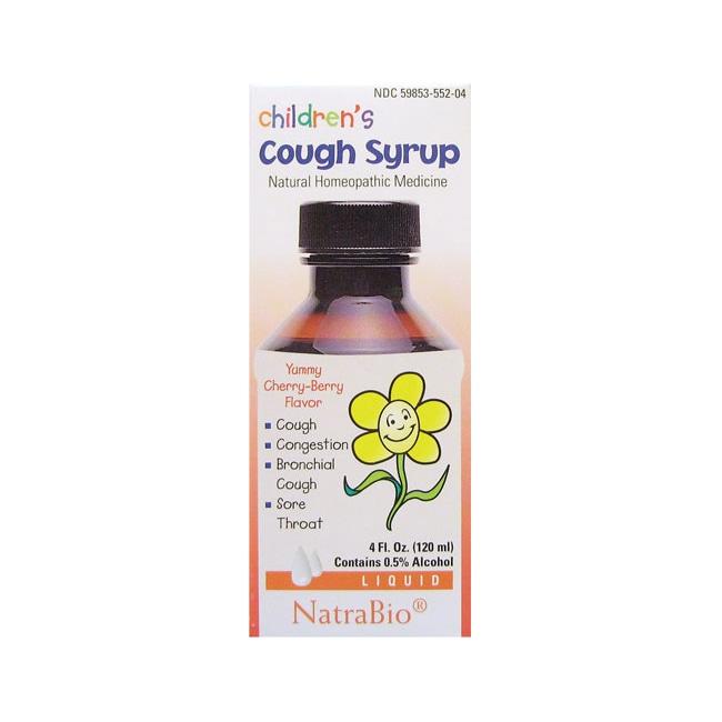 NatraBio Children's Cough Syrup Cherry-Berry
