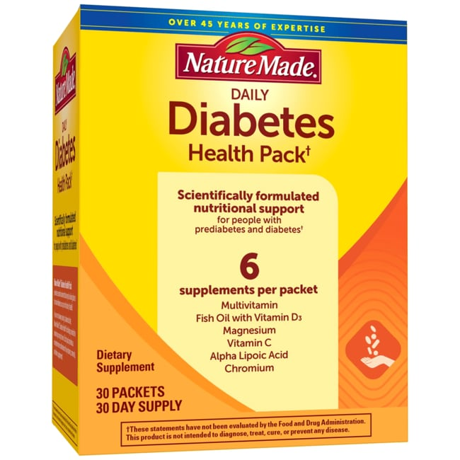 Buy One Get One Free Nature Made Diabetes Health Pack