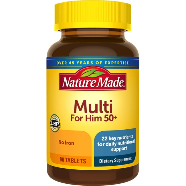 Nature MadeMulti For Him 50+ No Iron