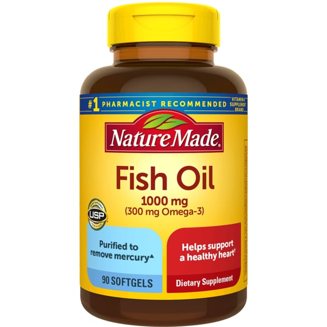 Nature made fish oil 1 000 mg 90 sgels swanson for Fish oil 1000 mg