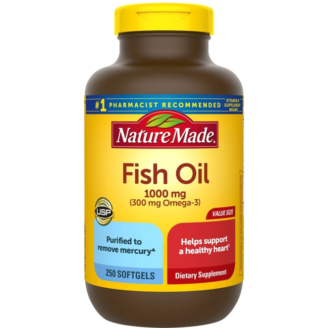 Nature made fish oil 1 000 mg 250 sgels swanson health for Nature made fish oil