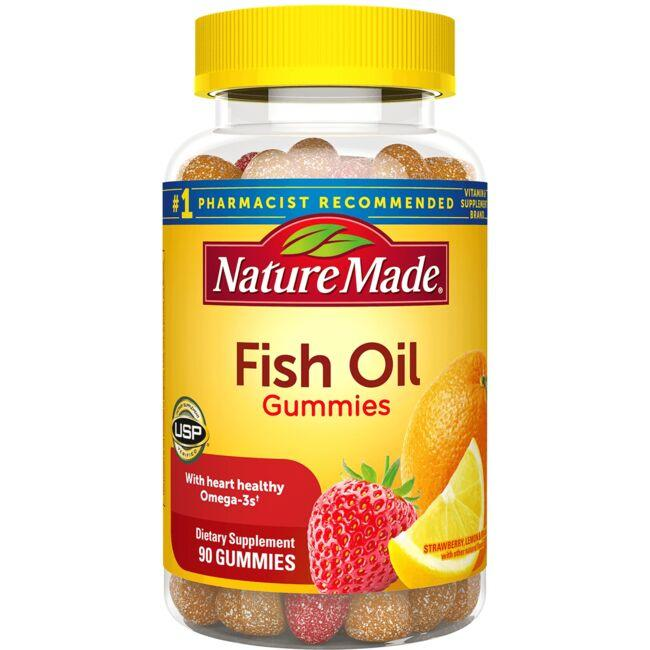 Nature Made Adult Gummies Fish Oil - Orange, Lemon & Strawberry Banana