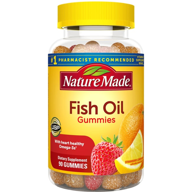 nature made adult gummies fish oil 90 gummies swanson