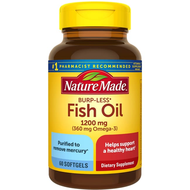 Nature MadeFish Oil - Burp-Less