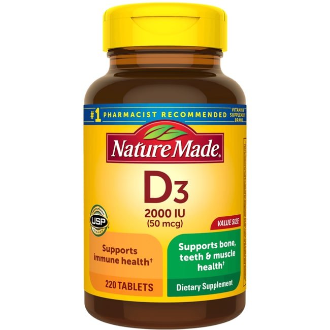 Nature Made Vitamin D3 2,000 IU 220 Tabs - Swanson Health Products