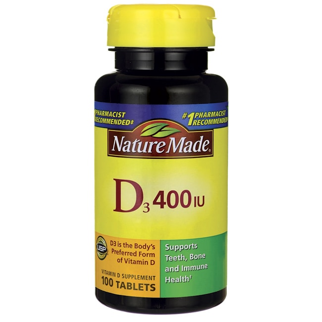 Nature Made Vitamin D3 400 IU 100 Tabs - Swanson Health Products