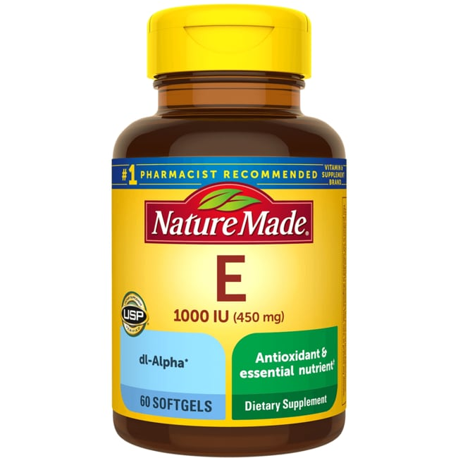 Nature Made Vitamin E 1,000 IU 60 Sgels - Swanson Health Products
