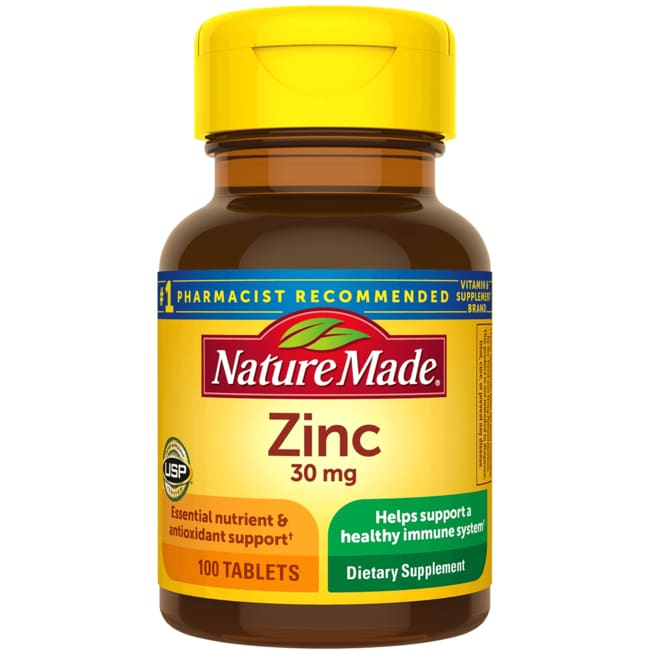 Nature Made Zinc 30 mg 100 Tabs - Swanson Health Products