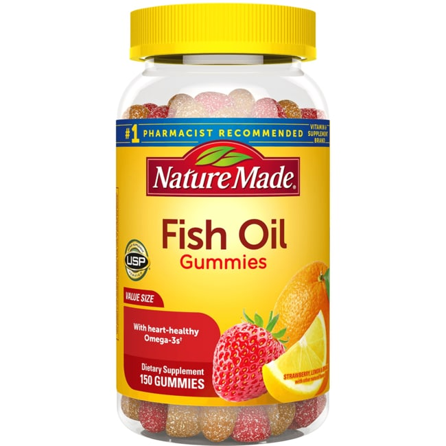 Nature made adult gummies fish oil 150 gummies swanson for Nature made fish oil