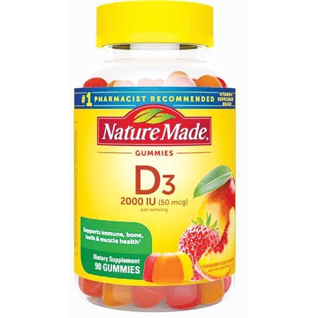 Nature MadeAdult Gummies Vitamin D3 - Strawberry, Peach & Mango