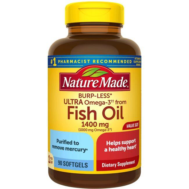 Nature Made Ultra Fish Oil - Burp-Less