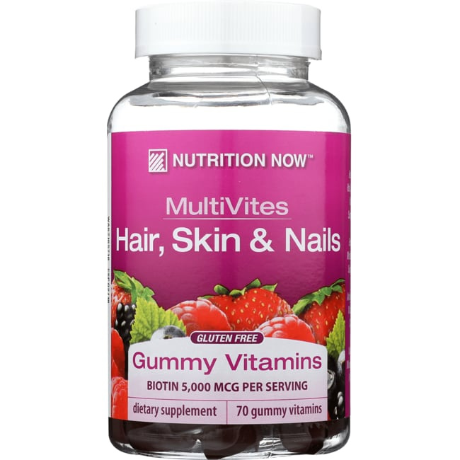 Nutrition NowMultiVites Gummy Vitamins + Hair, Skin and Nails Support