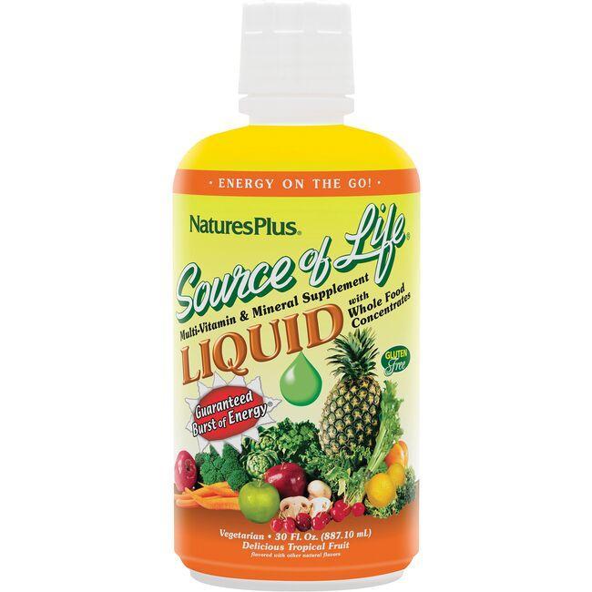 Nature's PlusSource Of Life Liquid Multi-Vitamin & Mineral - Tropical Fruit