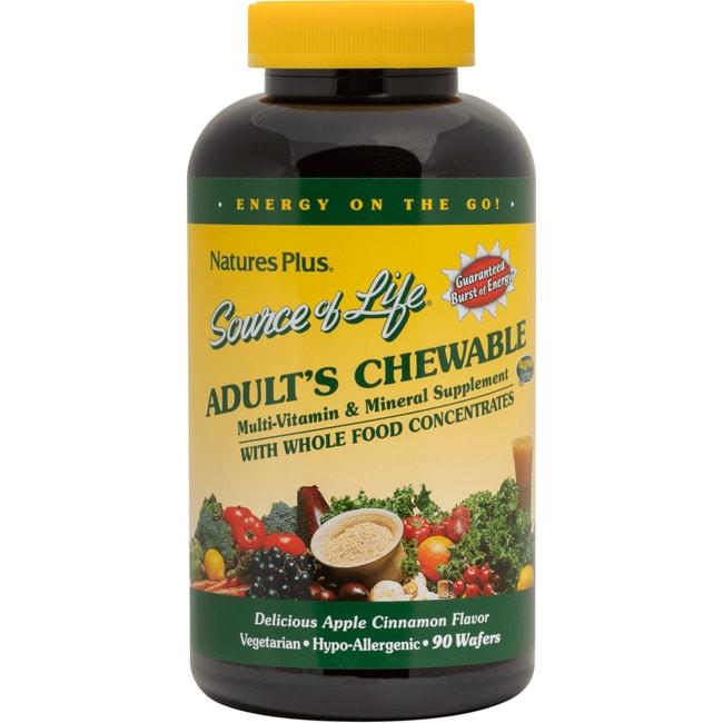 Nature's Plus Source of Life Adult's Chewable Multivitamin Apple Cinnamon