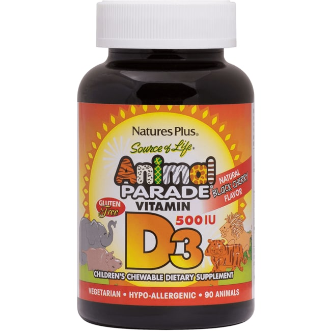 Nature's Plus Animal Parade Vitamin D3 Black Cherry