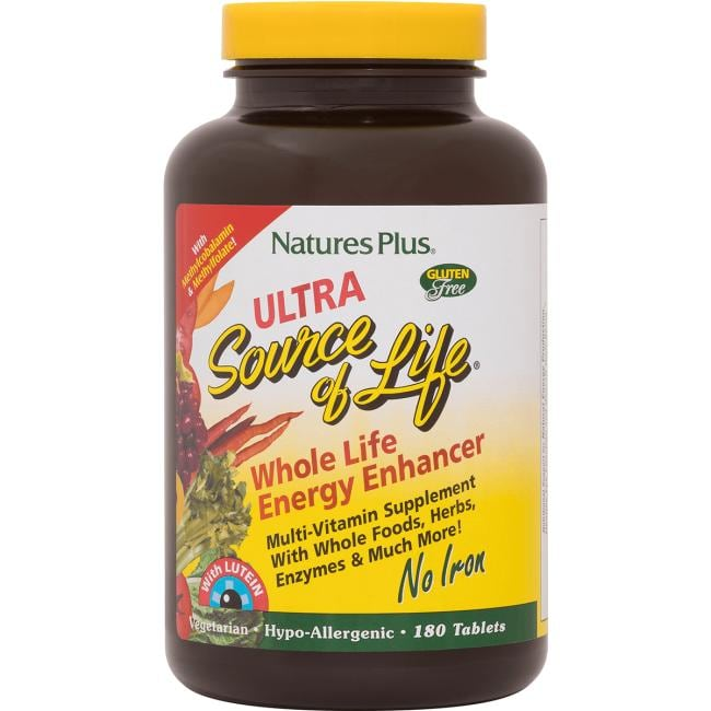 Nature's Plus Ultra Source of Life with Lutein No Iron