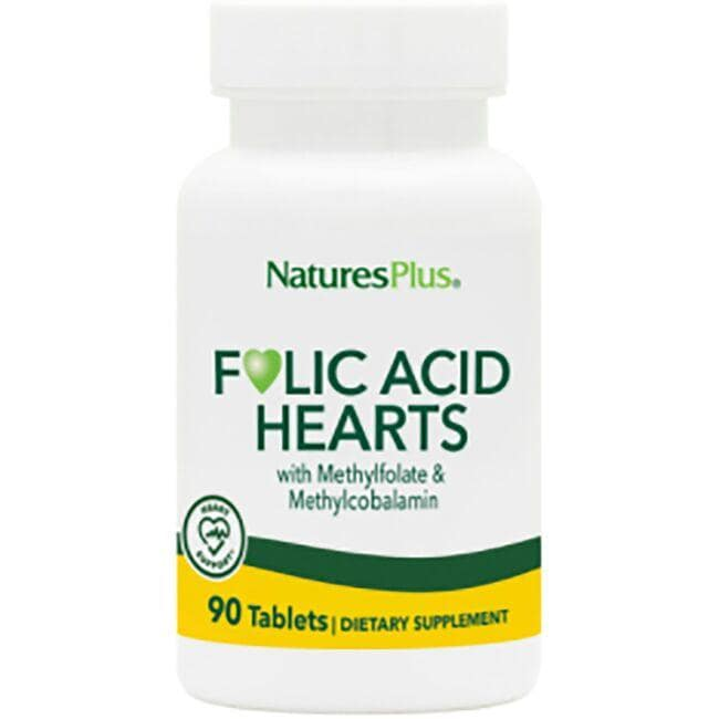 Natures Plus Folic Acid Hearts