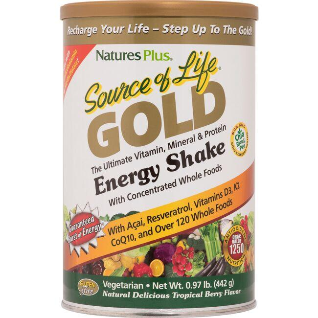 Nature's PlusSource of Life Gold Energy Shake Tropical Berry Flavor