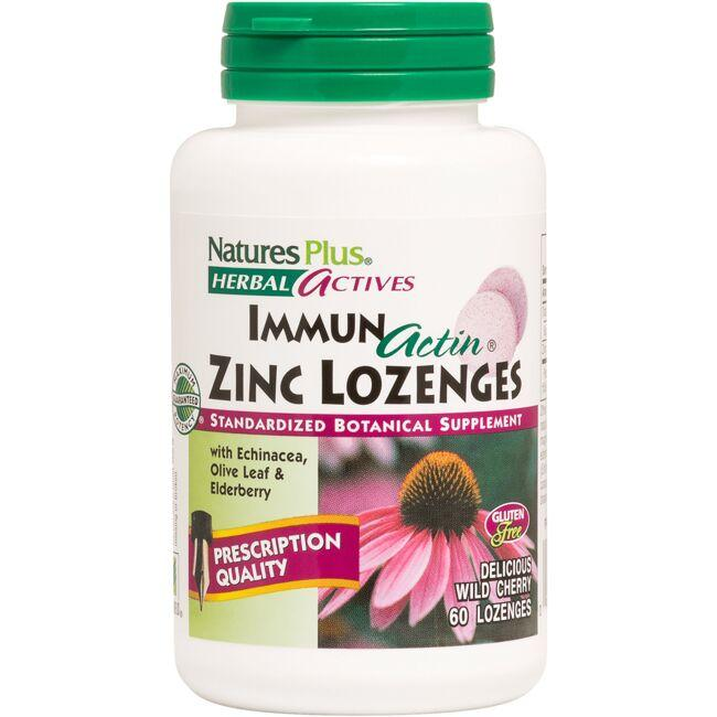 Nature's PlusImmun Actin Zinc Lozenges Wild Cherry