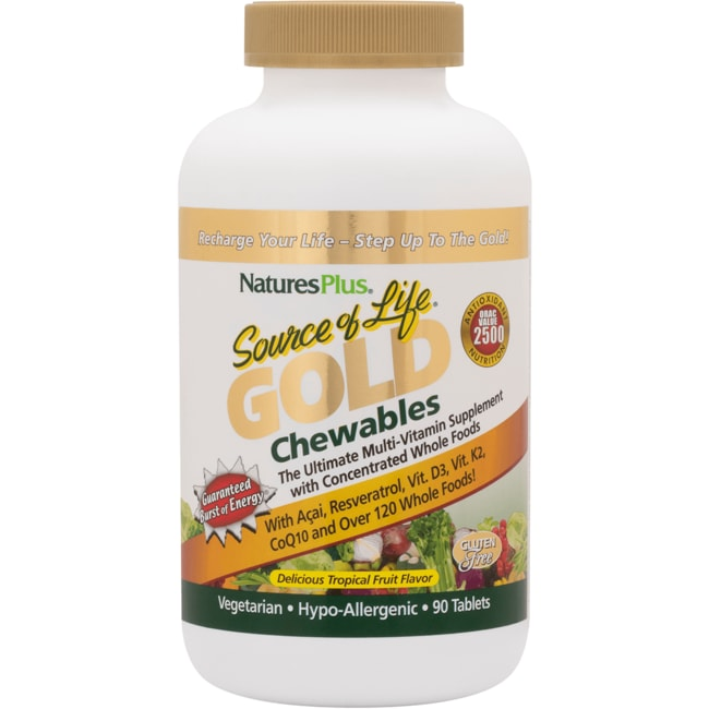 Nature's Plus Source of Life Gold Chewables - Tropical Fruit