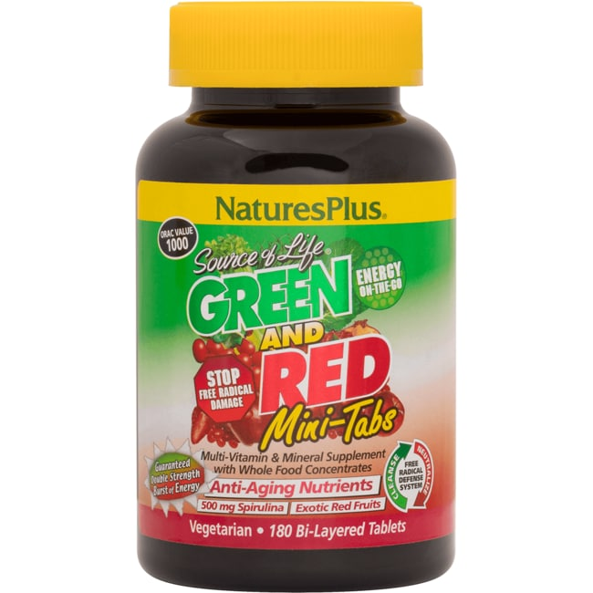 Nature's PlusSource of Life Green and Red Mini Tabs