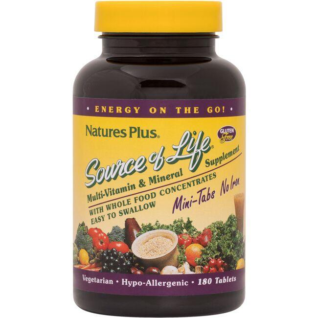 Nature's PlusSource of Life Multi-Vitamin & Mineral Mini-Tabs No Iron