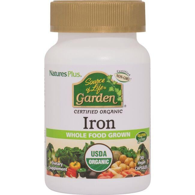 Nature's Plus Source of Life Garden Certified Organic Iron