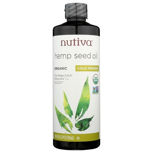 Nutiva Hemp Oil Organic Superfood Cold Pressed