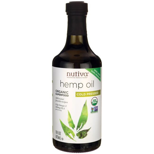 NutivaOrganic Cold Pressed Hemp Oil