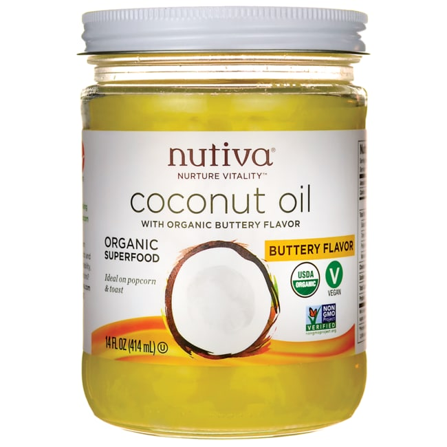 NutivaOrganic Coconut Oil with Buttery Flavor