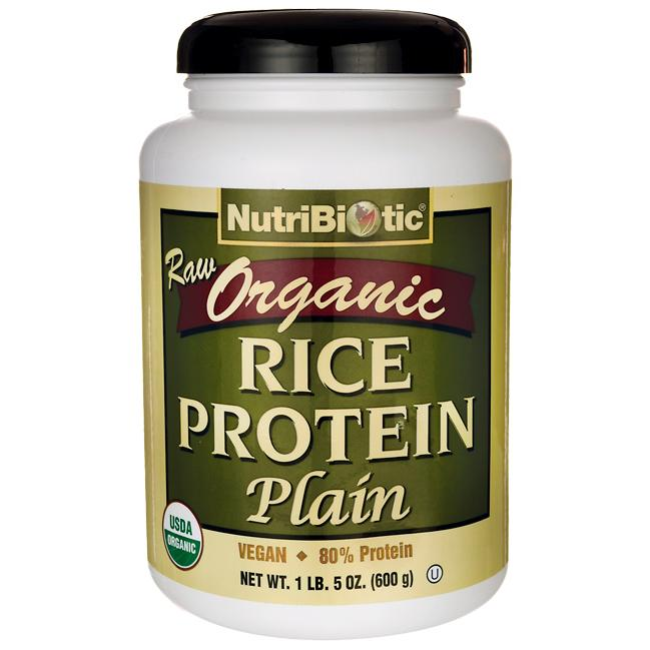 NutriBioticRaw Organic Rice Protein Plain