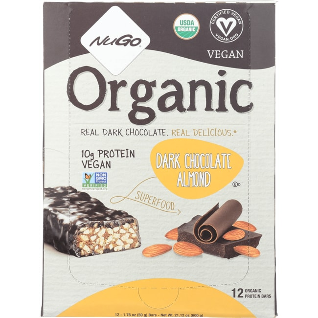 NuGo NutritionNuGo Organic Bars Dark Chocolate Almond