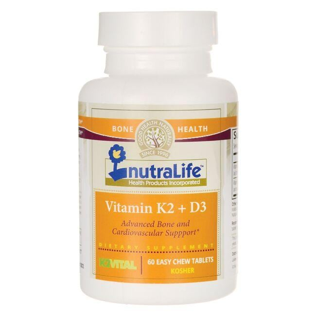 Nutralife Health Products Vitamin K2 + D3