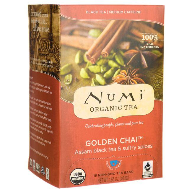Numi Organic Tea Golden Chai Black Tea