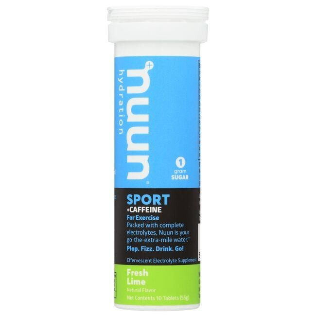 Nuun Hydration Sport + Caffeine - Fresh Lime