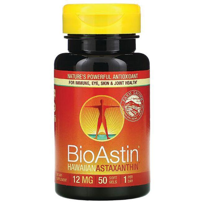 Nutrex Hawaii Bioastin Hawaiian Astaxanthin 12 mg 50 Gelcaps Immune Support