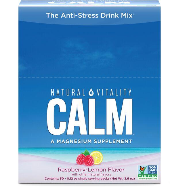Natural Vitality Natural Calm Anti-Stress Drink Raspberry-Lemon Flavor