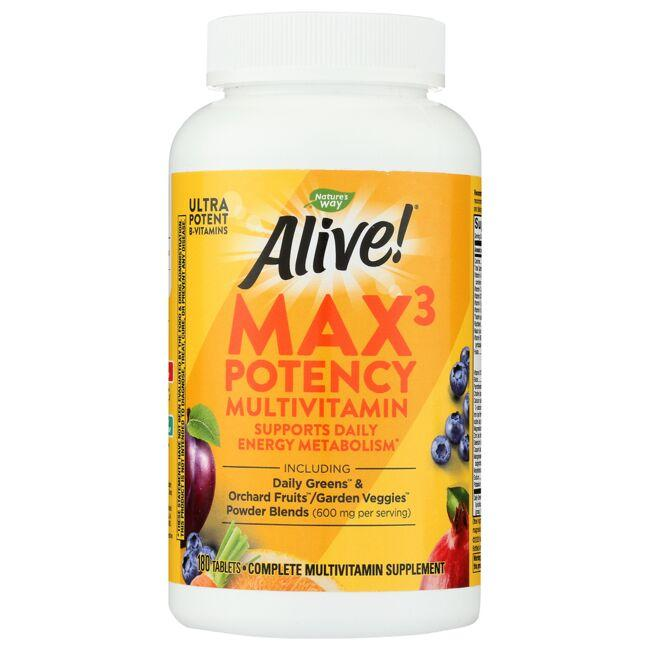 Nature S Way Alive Max Daily Multi Vitamin Max Potency