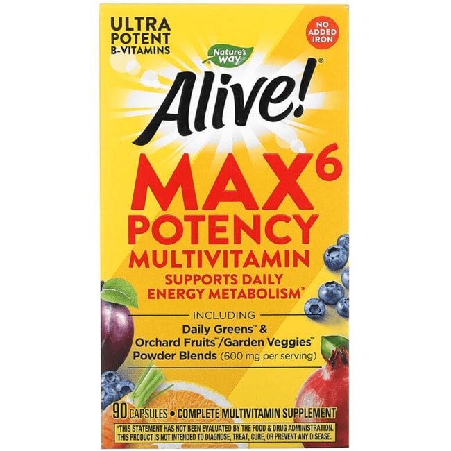 Nature's WayAlive! Max6 Daily Multi-Vitamin