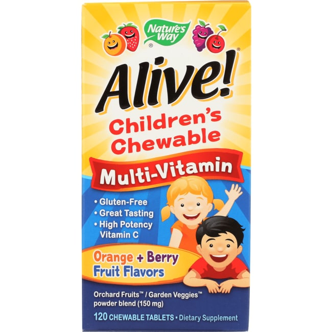 Nature's WayAlive! Children's Multi-Vitamin Orange & Berry